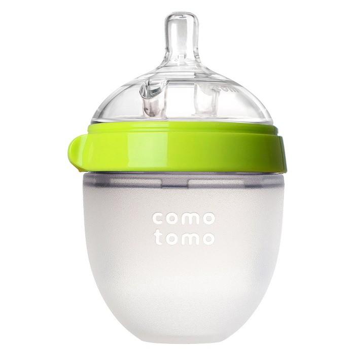 Comotomo Silicone Bottle 5-Oz - Green - image 1 of 3