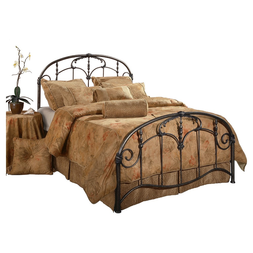 Jacqueline Metal Bed with Rails - Pewter(King) - Hillsdale Furniture, Gray