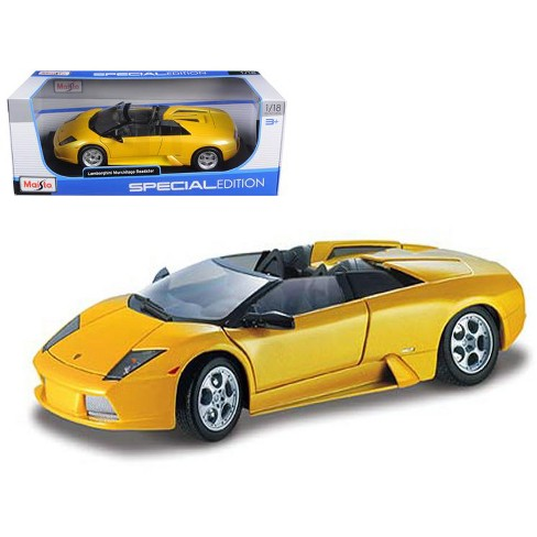 Lamborghini Murcielago Roadster Yellow 1 18 Diecast Model Car By