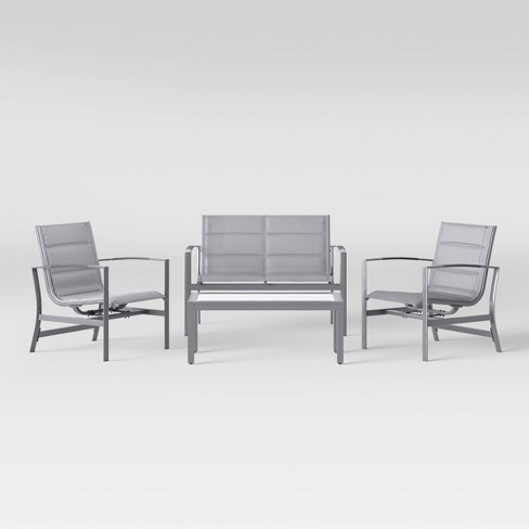 Avalon 4pc Patio Conversation Set - Light Gray - Project 62™ - image 1 of 10