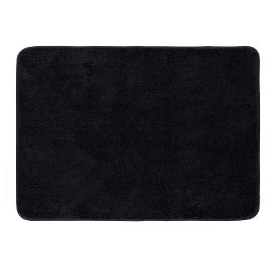 Velveteen Solid Memory Foam Bath Mat (17 x24 )Black - Mohawk Home®