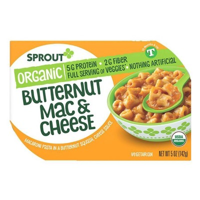 Sprout Foods Organic Butternut Mac and Cheese Toddler Meals - 5oz