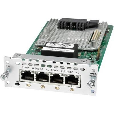 Cisco 4 Port Multi-Flex Trunk Voice/Clear-Channel Data T1/E1 Module - For Voice, Wide Area Network2.048