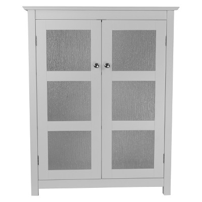 Connor Floor Cabinet White - Elegant Home Fashions