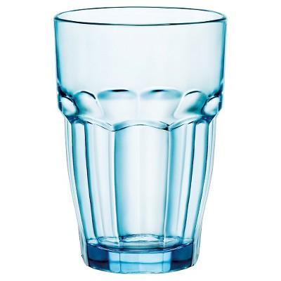 Bormioli Rocco Rock Bar Stackable 12.5oz Long Drink Set of 6 - Blue
