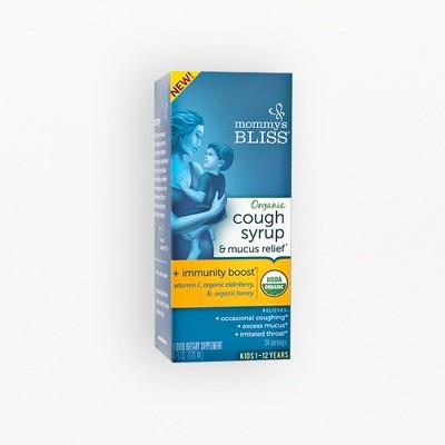 Mommy's Bliss Kids Organic Cough & Mucus Relief Liquid - Elderberry - 4 fl oz