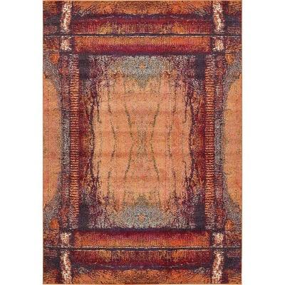 Selene Estrella Rug Orange/Black - Unique Loom