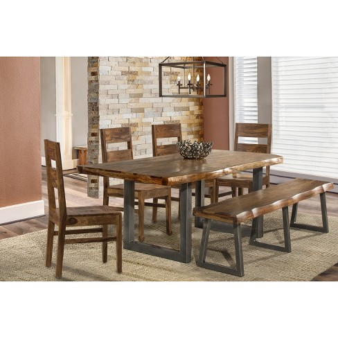 Emerson 6pc Rectangle Dining Set Natural Hillsdale Furniture Target
