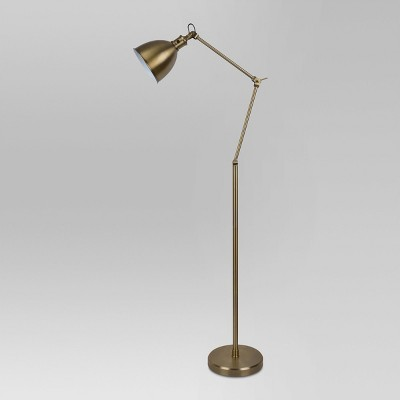 Industrial Task Floor Lamp Brass Lamp Only - Threshold™