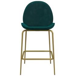 Astor Velvet Upholstered Counter Stool Green - CosmoLiving by Cosmopolitan