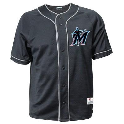 MLB Miami Marlins Men's Button-Down Jersey