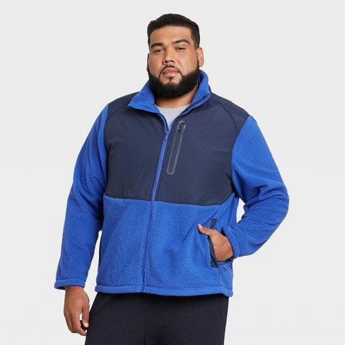 Men's Big & Tall Sherpa Fleece Jacket - All in Motion™ - image 1 of 2