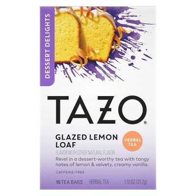 Tazo Glazed Lemon Loaf Dessert Delights Tea Bags - 15ct