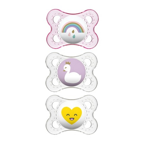 MAM Clear Triple Pack 0-6 Months - Pink/Clear 3ct - image 1 of 5