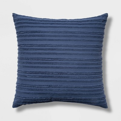 Euro Clipped Texture Dec Pillow Blue - Threshold™