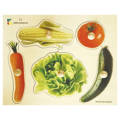 Edushape Large Knob Puzzle - Vegetable 6pc - image 1 of 1
