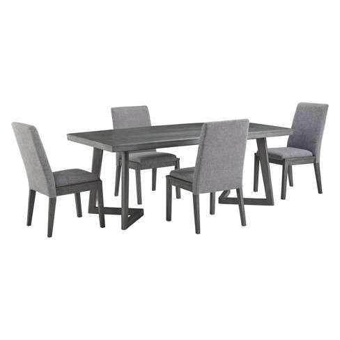 Besteneer Rectangular Dining Room Table Dark Gray