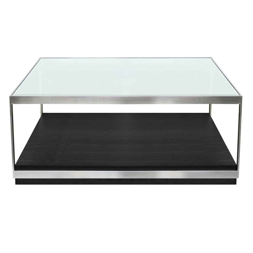 Armen Living Manchester Contemporary Coffee Table Black