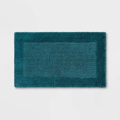 "34""x20"" Performance Textured Bath Rug Turquoise - Threshold™"