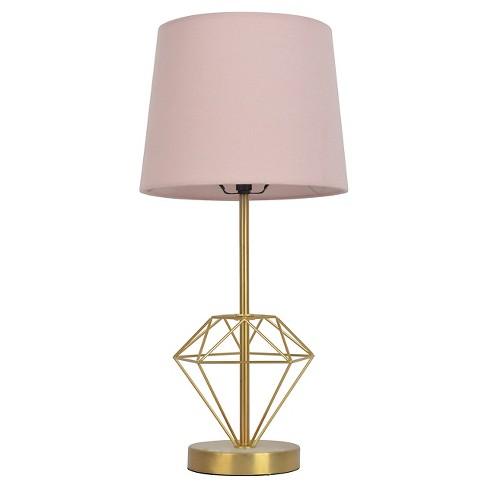 Diamond Pink Gold Metal Table Lamp