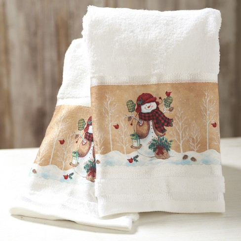 Lakeside Decorative Bathroom Hand Towels Country Christmas Snowmen Target