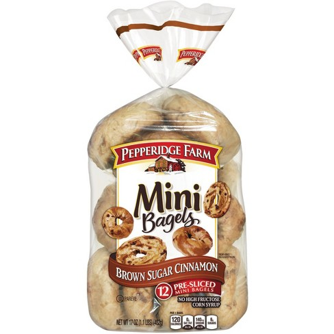 Pepperidge Farm® Mini Brown Sugar Cinnamon Bagels, 17oz Bag, 12pk - image 1 of 1