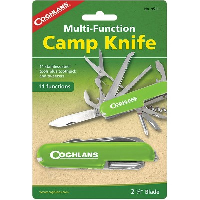 Coghlan's Multi-Function Camp Knife, 11 Functions, Army Camping Swiss Style