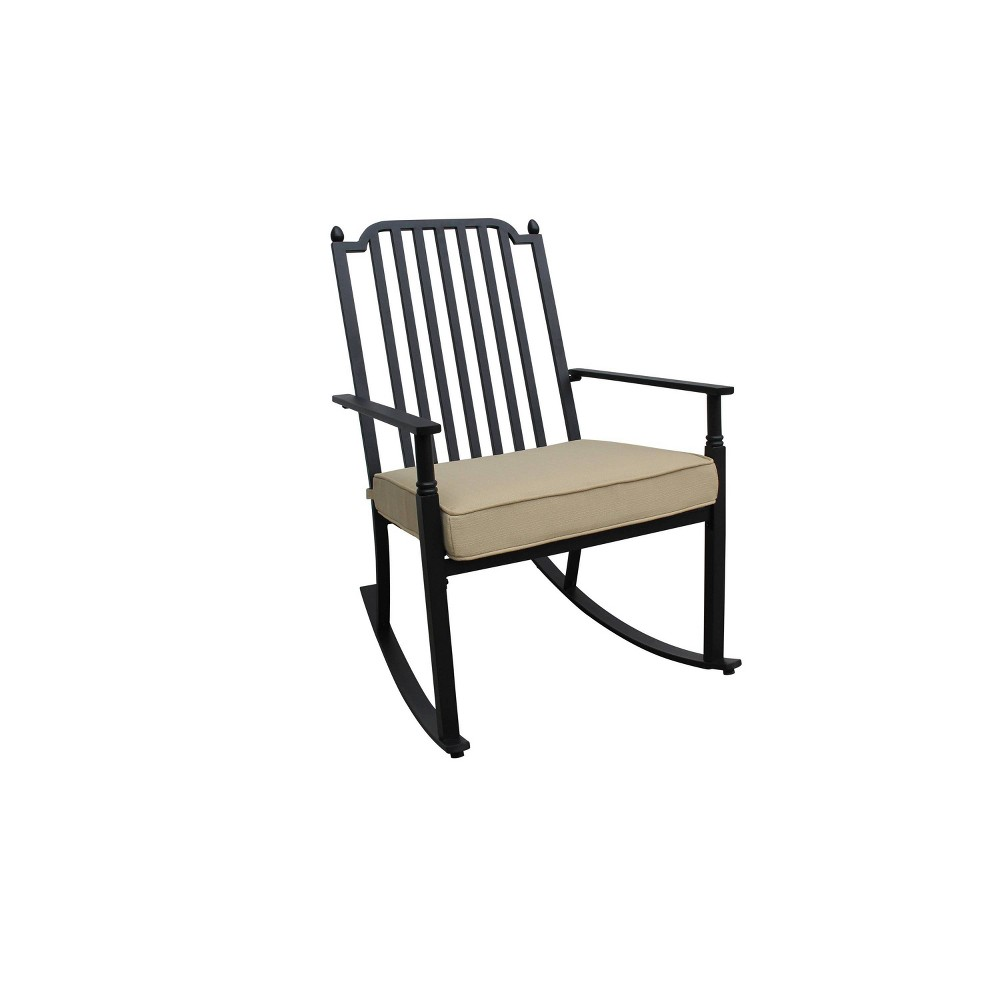 Image of Rocking Chair with Neutral Cushion - Liberty Garden Patio