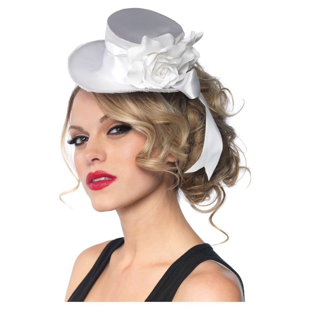 Top Hat Mini Satin White, Women's