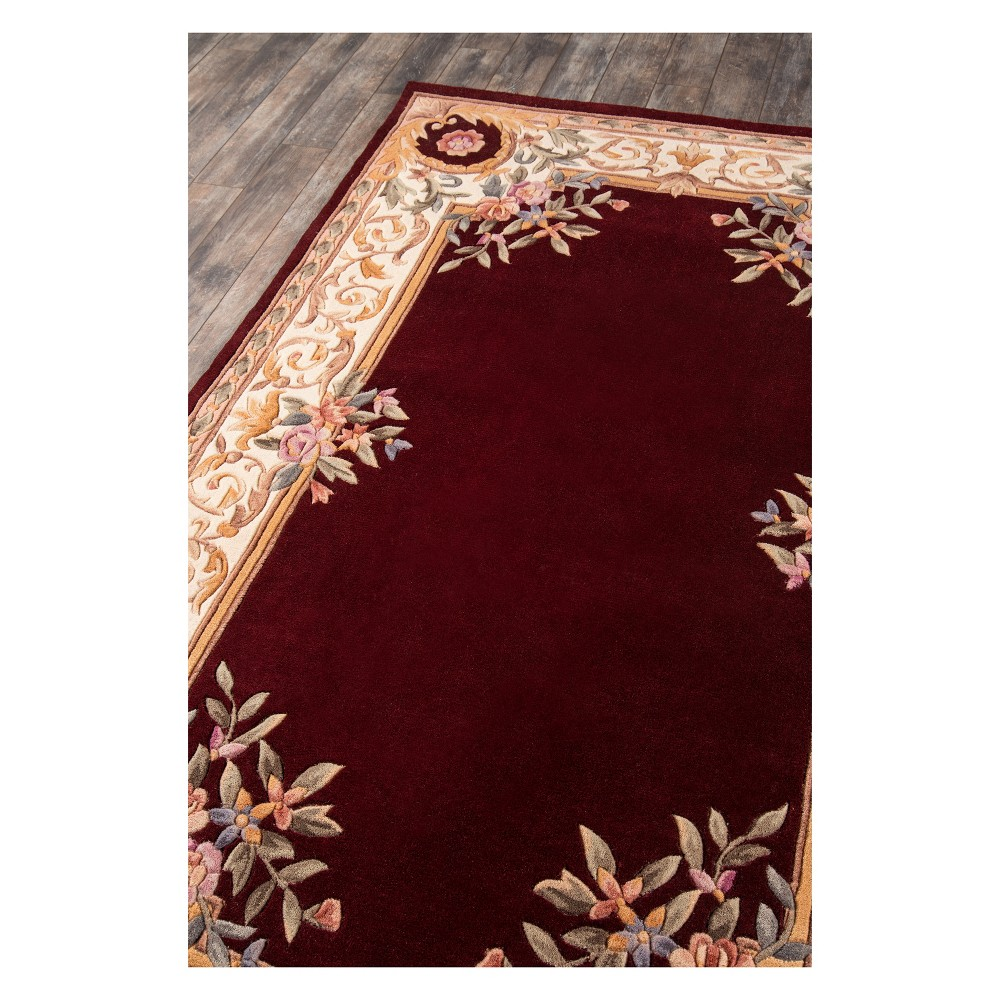 2'3X12' Floral Tufted Accent Rug Burgundy (Red) - Momeni