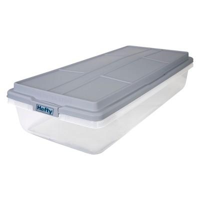 Hefty 63qt Hi-Rise Underbed Clear Storage Box