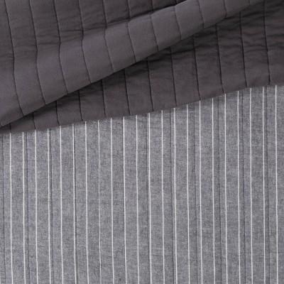 Threshold™ Flannel Stripe Quilt Gray : Target