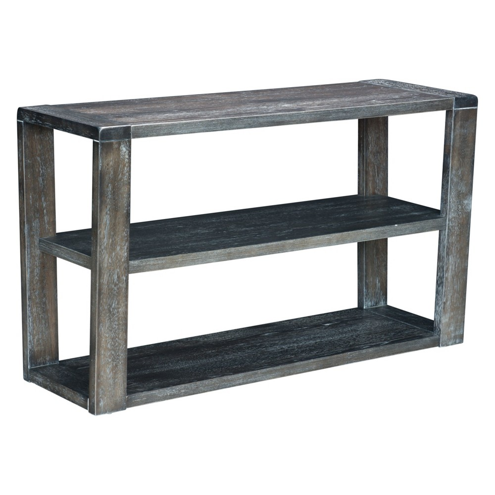 Rustic 50 Rectangular Console Table Gray - ZM Home