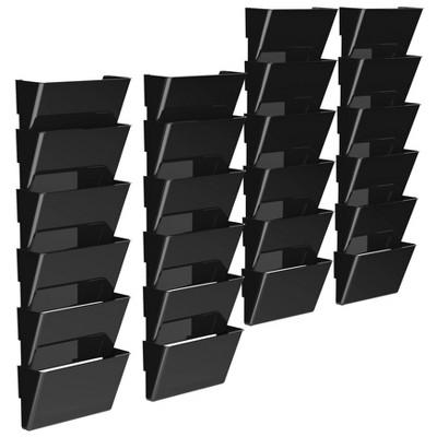 Storex 24pk Snap & Stack Wall Files Black
