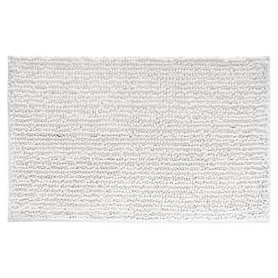 mDesign Soft Microfiber Polyester Non-Slip Rectangular Spa Mat/Rug - White
