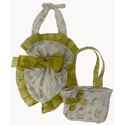 Doll Clothes Superstore Gold Accent Bathing Suit With Beach Bag Fits 15-16 Inch Baby Dolls And Cabbage Patch Kid Dolls