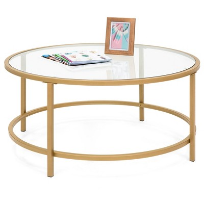 Best Choice Products 36in Round Tempered Glass Coffee Table for Home	Living Room	Dining Room