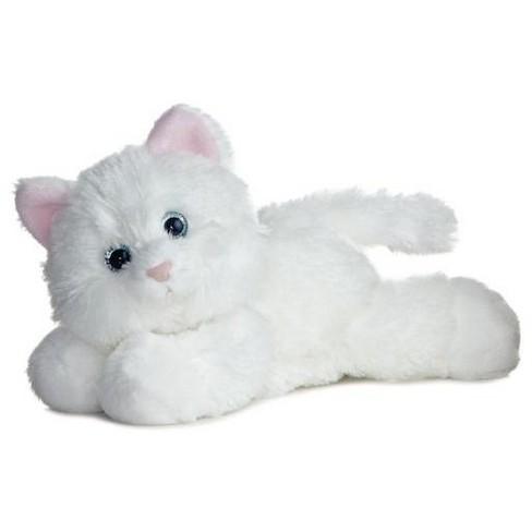 Aurora World Mini Flopsie Sugar Too White Cat 8 Stuffed Animal Target