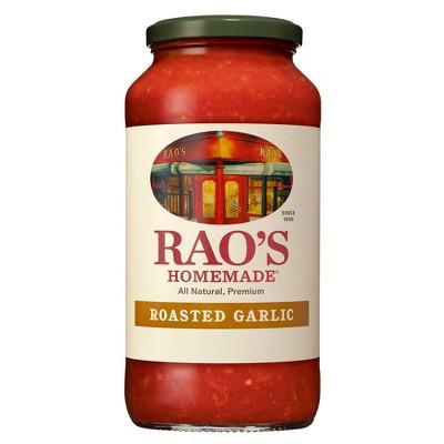 Rao's Homemade Roasted Garlic Tomato Sauce  Premium Quality All Natural Tomato Sauce & Pasta Sauce Keto Friendly & Carb Conscious - 24oz
