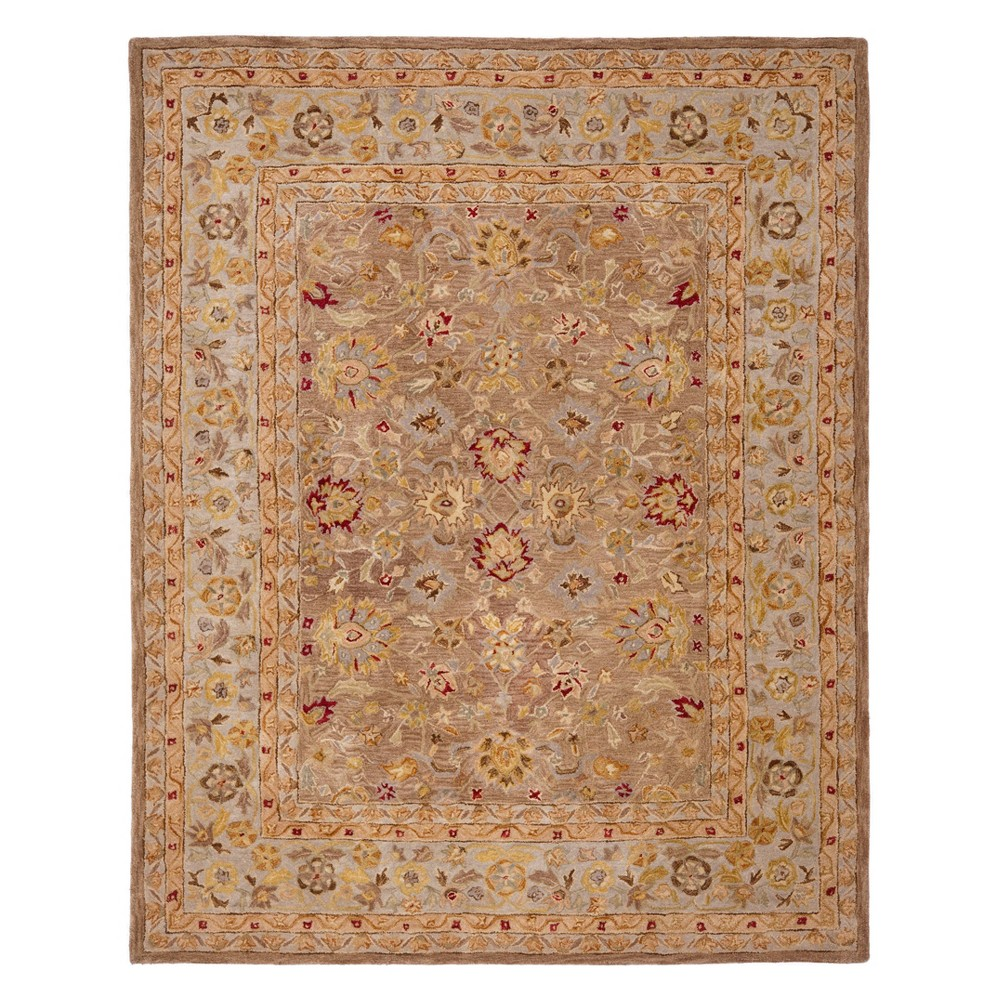 Floral Area Rug Tan/Ivory