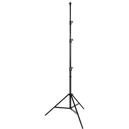 Westcott 13' Heavy Duty Aluminum Lightstand, 4 Section, 5/8  Stud with 1/4  Thread, Black - image 1 of 1