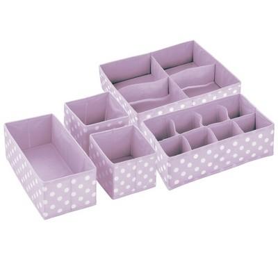 mDesign Kids Fabric Dresser Drawer and Closet Storage Organizer, Set of 5