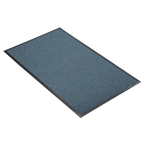 Slate Blue Solid Doormat - (2'X3') - HomeTrax - image 1 of 4