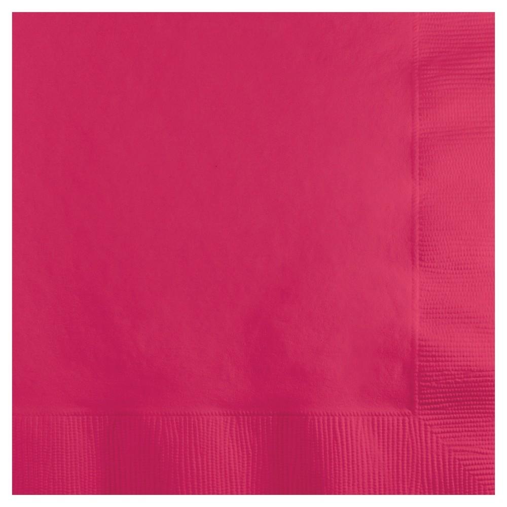 Image of 50ct Hot Magenta Pink Cocktail Beverage Napkins