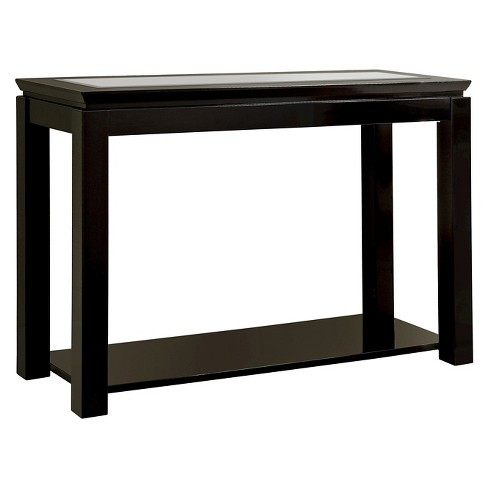 miBasics Tellma High Gloss Glass Top Sofa Table Black - image 1 of 3