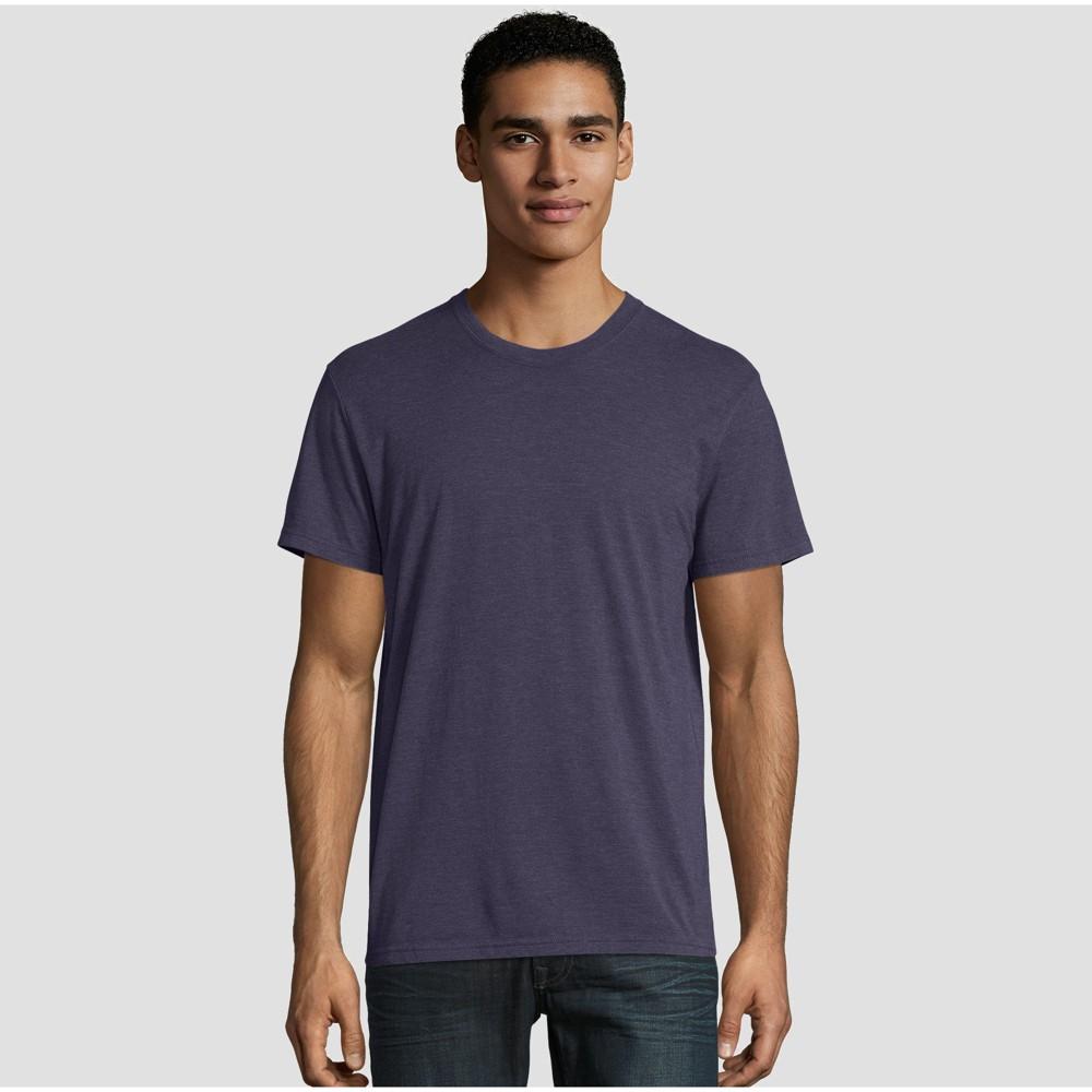 Hanes Premium Men's Short Sleeve Black Label Crew-Neck T-Shirt - Navy (Blue) L
