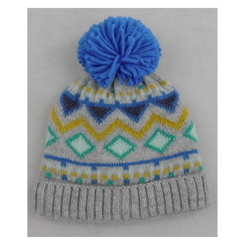 4ff711a7ece Toddler Boys  Knitted Fairisle Hat - Cat   Jack™ Blue 2T-5T   Target