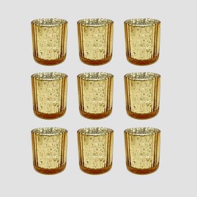 9ct Mercury Glass Votive Holders Gold - Bullseye's Playground™
