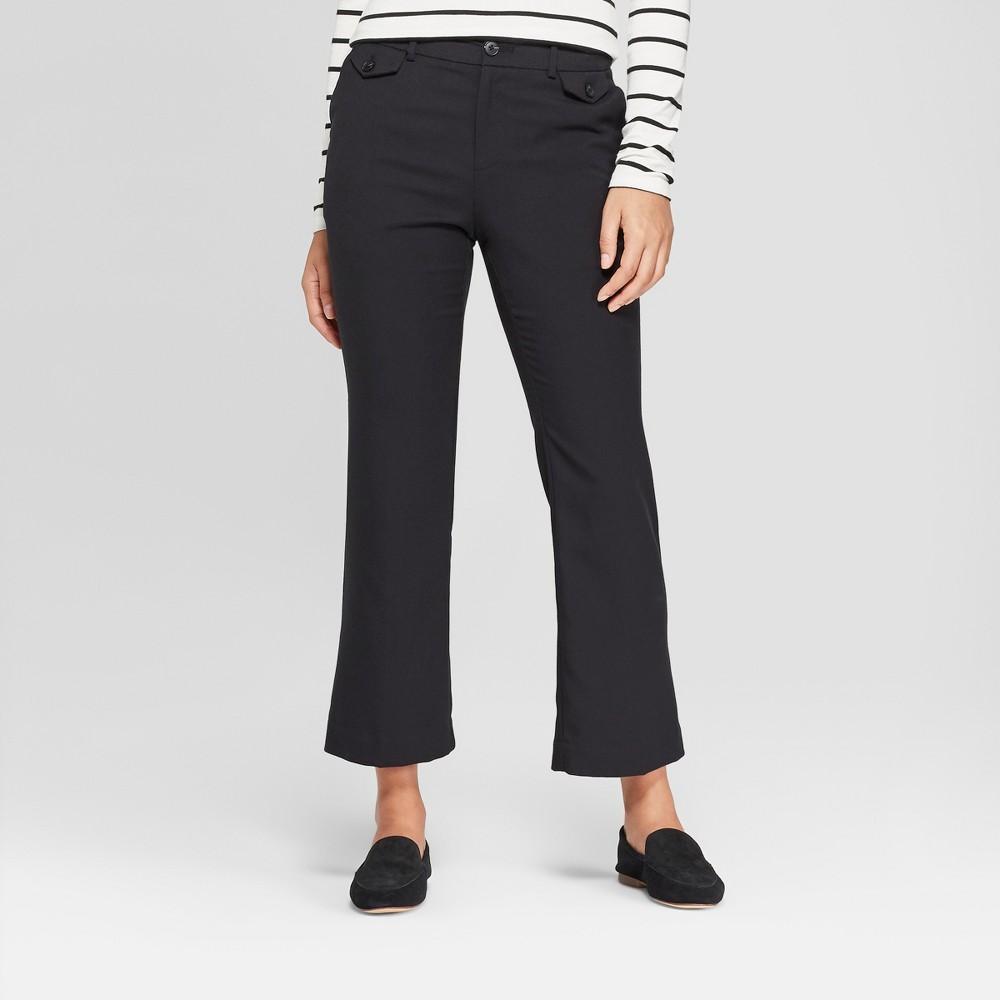 Women's Kick Flare Pants - A New Day Black 2