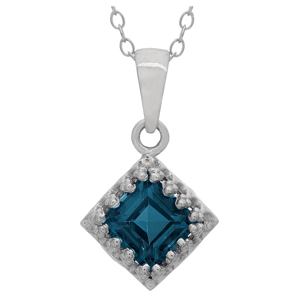 Best Discount 1 14 Tcw Tiara London Blue Topaz Crown Pendant In Sterling Silver